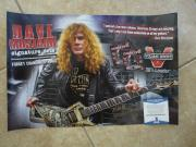 Dave Mustaine Megadeth Signed Autographed 12x18 Promo Poster Beckett Certified 1