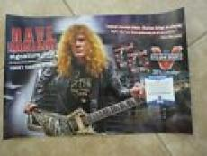 Dave Mustaine Megadeth Signed Autographed 12x18 Promo Poster Beckett Certified 2