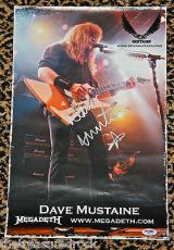 DAVE MUSTAINE Megadeth signed autographed poster photo PSA DNA COA DEAN GUITARS