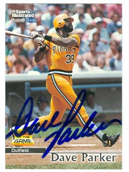 Dave Parker autographed Baseball Card (Pittsburgh Pirates) 1999 Fleer Greats of the Game #39