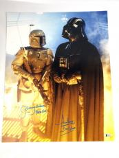 Dave Prowse and Jeremy Bulloch Signed 16x20 Photo Autograph Star Wars Vader BAS