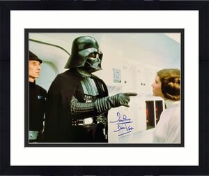David Dave Prowse  Signed Star Wars Darth Vader 16x20 Photo Beckett BAS 29