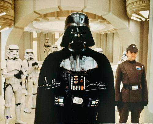Dave Prowse Signed Star Wars Darth Vader 16x20 Photo Beckett BAS Sticker Only