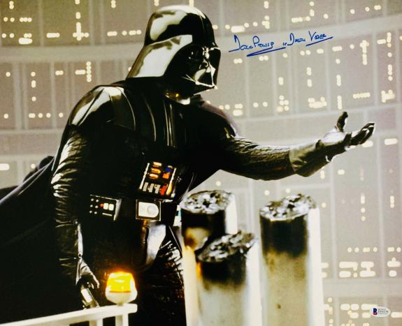 David Dave Prowse Authentic Signed Star Wars Darth Vader 16x20 Photo  BAS Gray