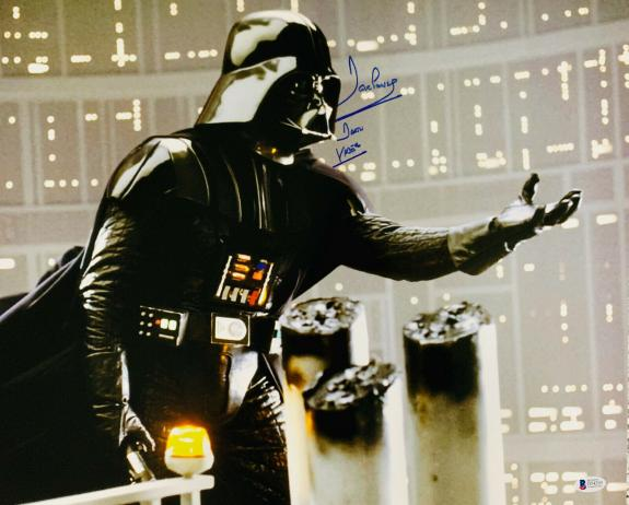 Dave Prowse Authentic Signed Star Wars Darth Vader 16x20 Photo Beckett BAS Grey