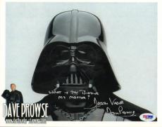 Dave Prowse Autographed Darth Vader Photo UACC RD PSA/DNA