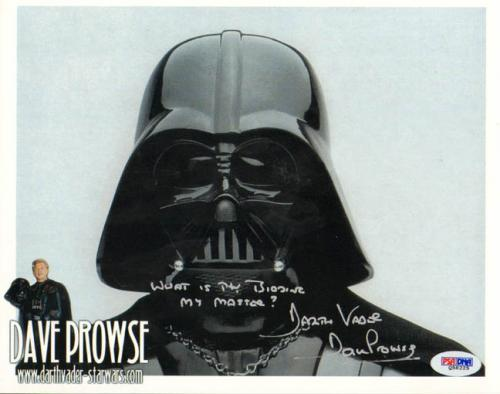 Dave Prowse Autographed What Is Thy Bidding My Master Photo PSA/DNA