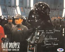 Dave Prowse Autographed Signed Vader Photo UACC RD PSA/DNA