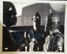 Dave Prowse Bill Hargreaves Jeremy Bulloch Signed 16x20 Photo Star Wars JSA COA