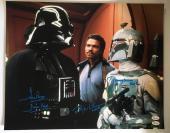 Dave Prowse Billy Dee Williams Jeremy Bulloch Signed 16x20 Photo Star Wars JSA 1
