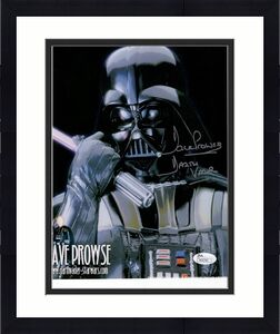 DAVE PROWSE HAND SIGNED 8x10 COLOR PHOTO     AWESOME POSE   DARTH VADER      JSA