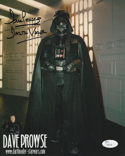 DAVE PROWSE HAND SIGNED 8x10 COLOR PHOTO     STAR WARS     DARTH VADER       JSA