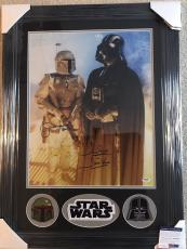 DAVE PROWSE & JEREMY BULLOCH signed 16x20 FRAMED STAR WARS Darth Vader David PSA