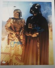 Dave David Prowse Jeremy Bulloch Signed 16x20 Photo Star Wars Dark Side JSA COA