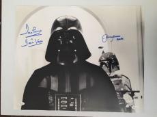 Dave David Prowse Jeremy Bulloch Signed Vader 16x20 Photo Star Wars JSA COA 1