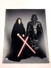 Dave Prowse SIGNED 11x14 Photo Autograph STAR WARS Darth Vader BAS COA