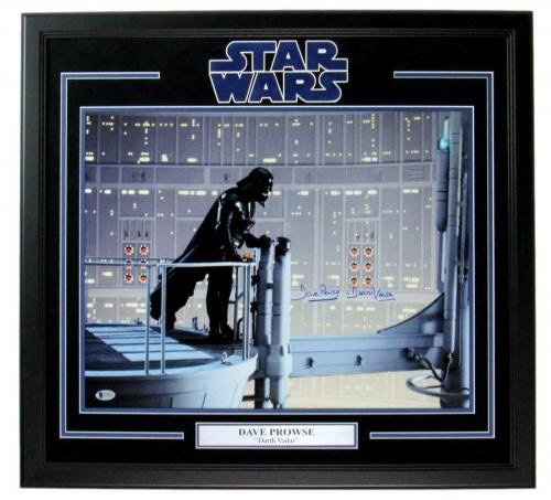 Dave Prowse Signed 16x20 Darth Vader Star Wars Photo Framed Beckett 149213