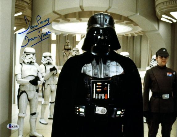 """DAVE PROWSE Signed Auto STAR WARS """"DARTH VADER"""" 11x14 Photo BECKETT BAS #B78153"""