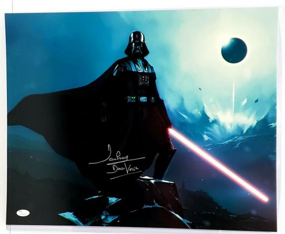 "DAVE PROWSE Signed Autographed ""Darth Vader"" STAR WARS 16x20 Photo JSA #T91106"