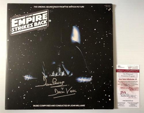 Dave Prowse Signed Autographed Star Wars Empire Strikes Back Vinyl Record JSA 1