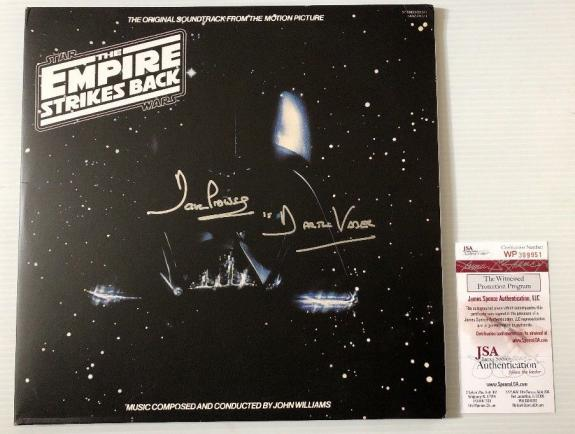 Dave Prowse Signed Autographed Star Wars Empire Strikes Back Vinyl Record JSA