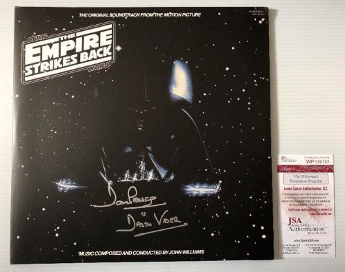 Dave Prowse Signed Autographed Star Wars Empire Strikes Back Vinyl Record JSA 2