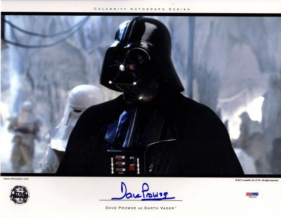 DAVE PROWSE Signed Darth Vader STAR WARS 11x14 Official Pix Photo PSA/DNA V50126