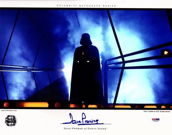 DAVE PROWSE Signed Darth Vader STAR WARS 11x14 Official Pix Photo PSA/DNA V50130