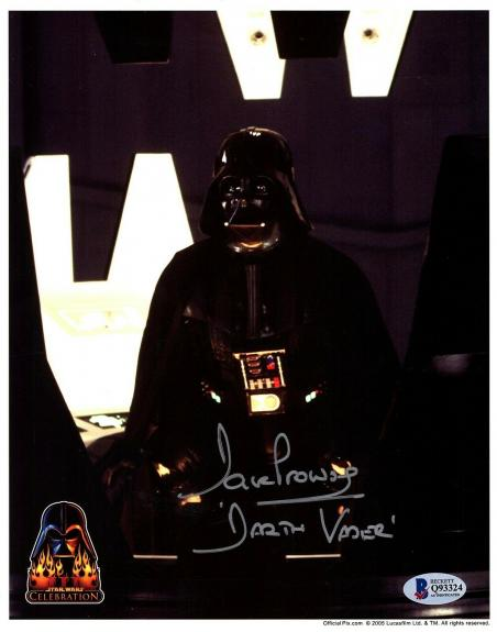 "DAVE PROWSE Signed ""Darth Vader"" STAR WARS 8x10 Official Pix Photo BAS #Q93324"