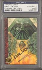 """DAVE PROWSE Signed """"DARTH VADER"""" STAR WARS Trade Card PSA/DNA SLABBED #83951077"""