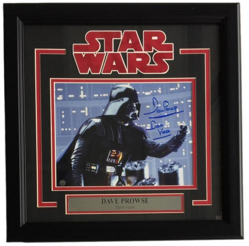 Dave Prowse Signed Framed 8x10 Star Wars Darth Vader Father Photo Steiner