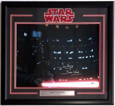 Dave Prowse Signed Framed Darth Vader 16x20 Final Battle Photo Beckett
