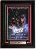 Dave Prowse Signed Framed 11x17 Star Wars Empire Strikes Back Poster Steiner