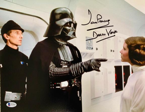 David Dave Prowse Signed Star Wars Darth Vader 11x14 Photo Beckett BAS 19