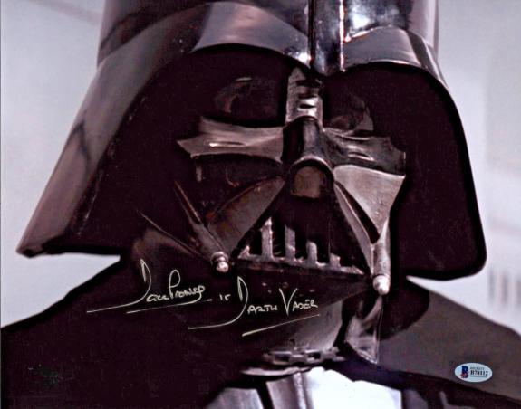 David Dave Prowse Signed Star Wars Darth Vader 11x14 Photo Beckett BAS 2
