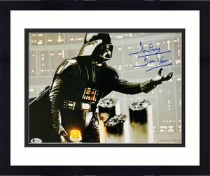 David Dave Prowse Signed Star Wars Darth Vader 11x14 Photo Beckett BAS 23