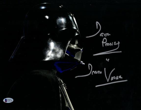 "DAVE PROWSE Signed STAR WARS ""DARTH VADER"" 11x14 Photo BECKETT BAS #C50770"