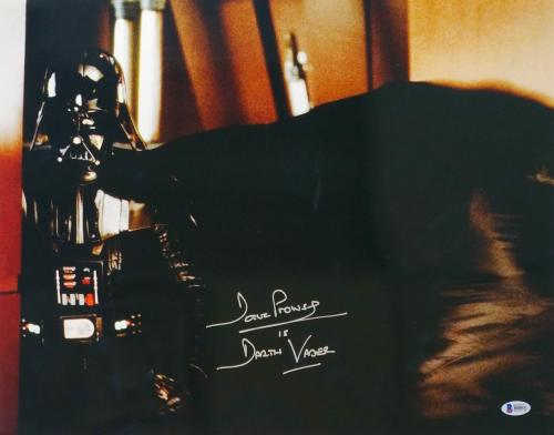 Dave Prowse Signed Star Wars Darth Vader 16x20 Gaze Photo Beckett BAS