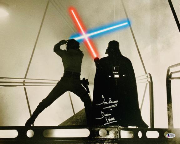 David Dave Prowse Signed Star Wars Darth Vader 16x20 Photo Beckett BAS 11