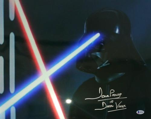 Dave Prowse Signed Star Wars Darth Vader 16x20 Photo Beckett BAS