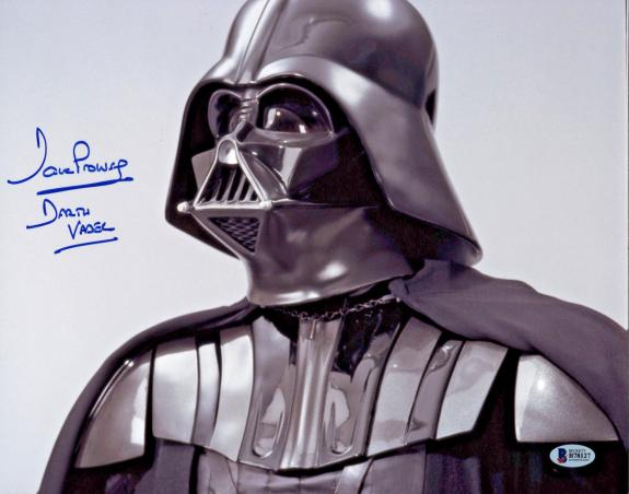Dave Prowse Signed Star Wars Darth Vader 16x20 Photo Beckett BAS