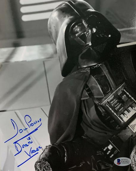 Dave Prowse Signed Star Wars Darth Vader 8 x 10 Photo - Auto Beckett BAS COA 6