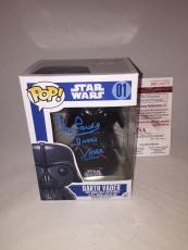 Dave Prowse Signed Star Wars Darth Vader Funko Pop Jsa 3