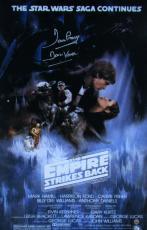 Dave Prowse Signed Star Wars Episode V: Empire Strikes Back Movie Poster Steiner