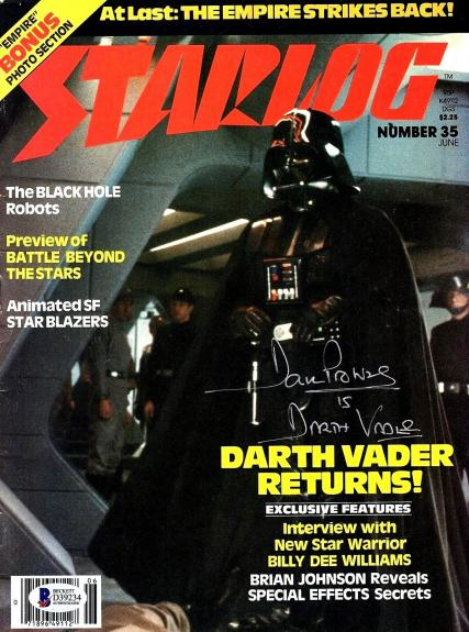 "DAVE PROWSE Star Wars DARTH VADER Signed ""Starlog Magazine"" BECKETT BAS #D39234"