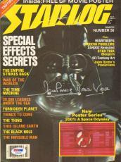 """DAVE PROWSE Star Wars DARTH VADER Signed """"STARLOG"""" Magazine PSA/DNA #Z22633"""