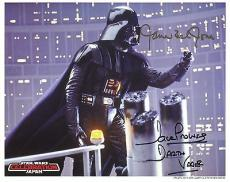 DAVE PROWSE+JAMES EARL JONES HAND SIGNED 8x10 PHOTO+COA   STAR WARS  DARTH VADER