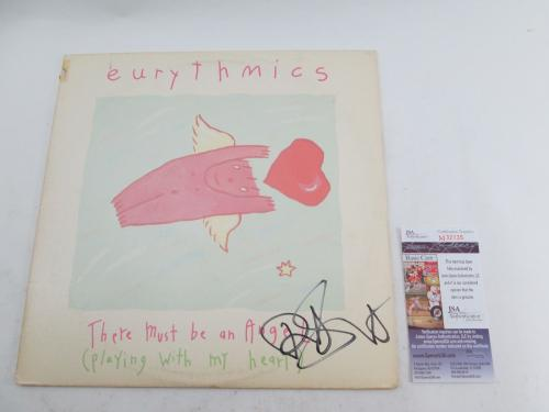 "Dave Stewart Signed 12"" Single Eurythmics There Must Be An Angel� w/ JSA AUTO"