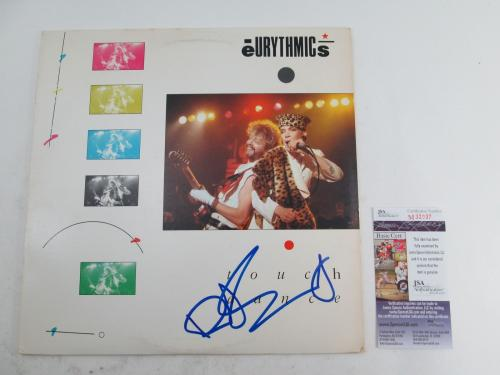 Dave Stewart Signed LP Record Album Eurythmics Touch Dance w/ JSA AUTO
