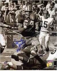 """Dave Wilcox San Francisco 49ers Autographed 8"""" x 10"""" Catching Ball Photograph with HOF 2000 Inscription"""